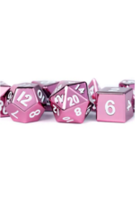 Dice 16mm Pink Painted Metal Polyhedral Dice Set