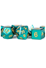 Dice 16mm Turquoise Painted Polyhedral Dice Set