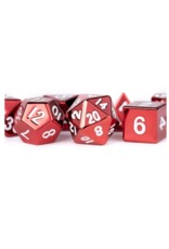 Dice 16mm Red Painted Metal Polyhedral Dice Set