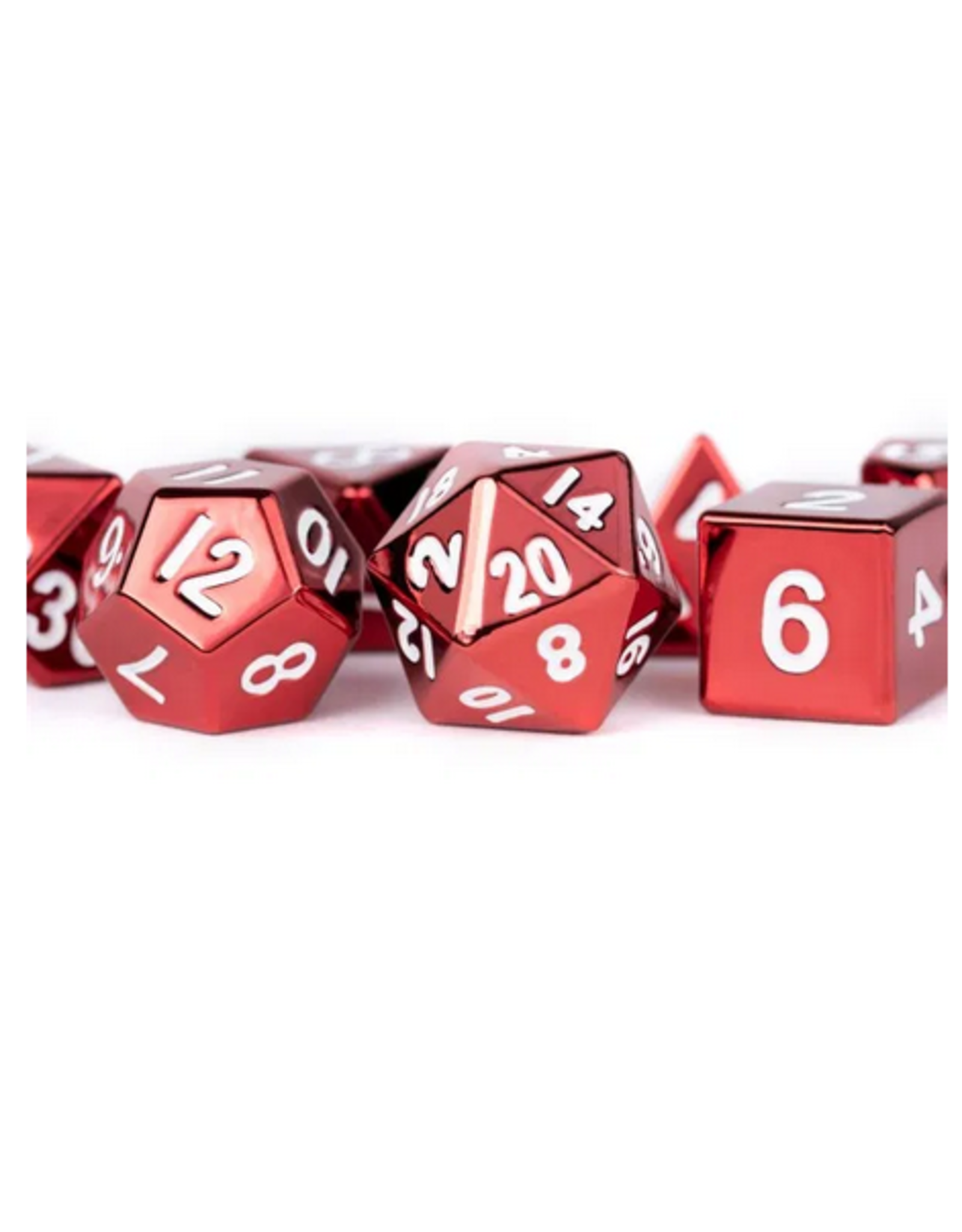 16mm Red Painted Metal Polyhedral Dice Set