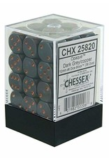 Chessex Opaque: 12mm D6 Dark Grey/Copper (36)