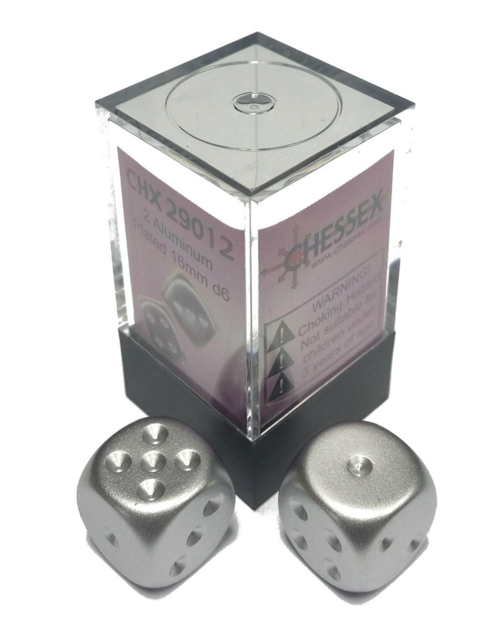 Chessex Aluminum Metallic 16mm D6 (2)