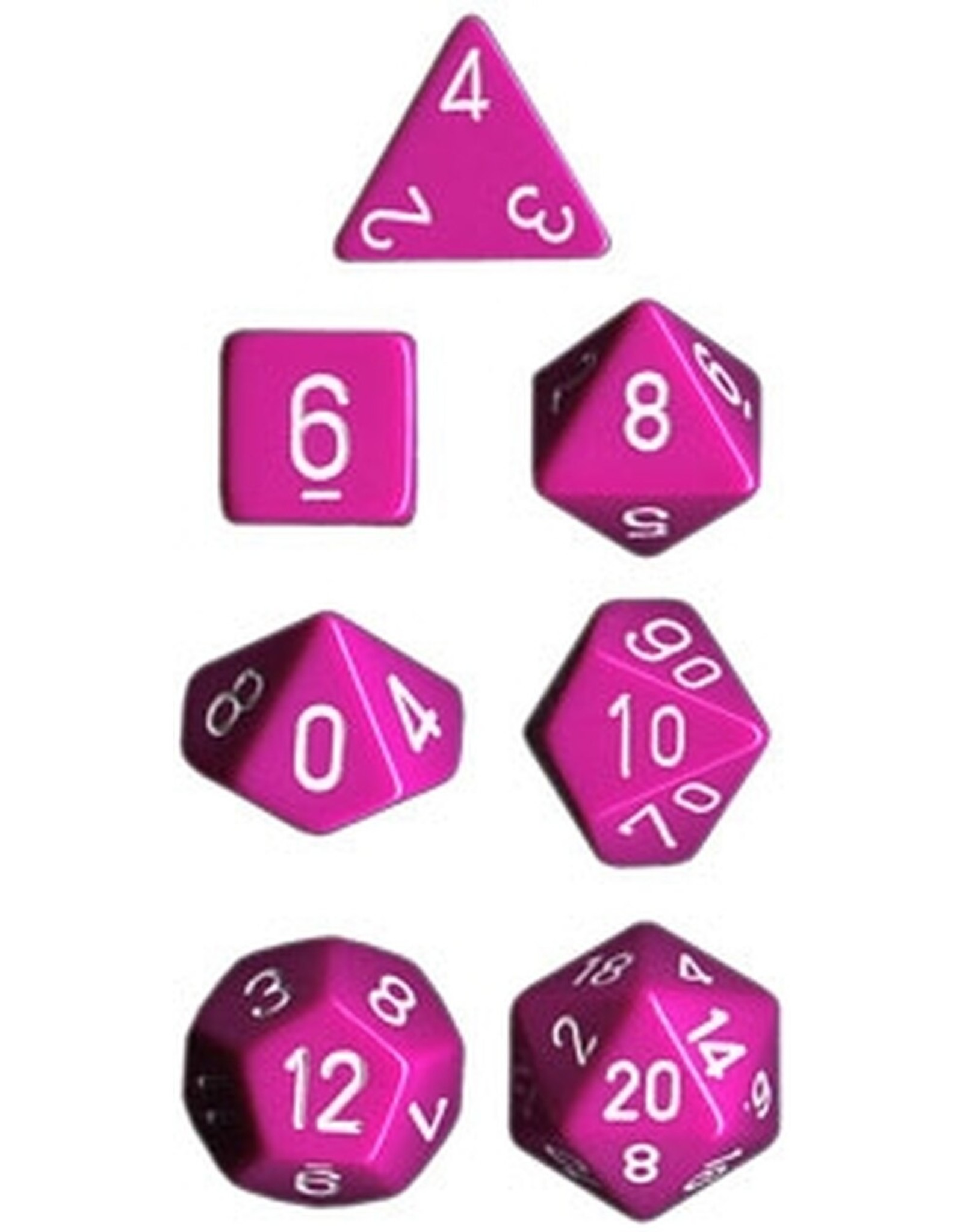 Chessex 7-Set Polyhedral Light Purple w/White Opaque