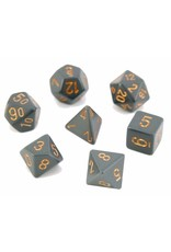 Chessex Opaque: Poly Set Dk Grey With