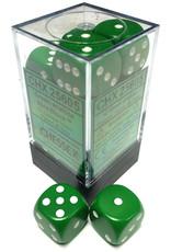 Chessex d6Cube16mmOP GRwh (12)