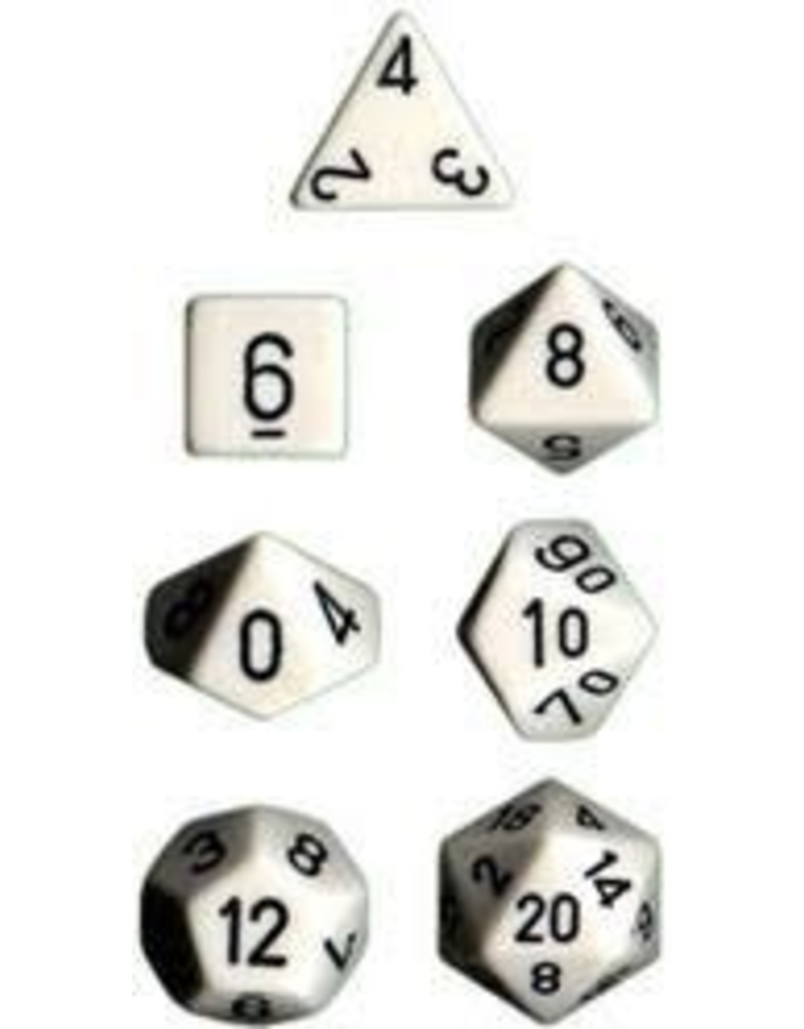 Chessex 7-Set Polyhedral CubeOP White-Black
