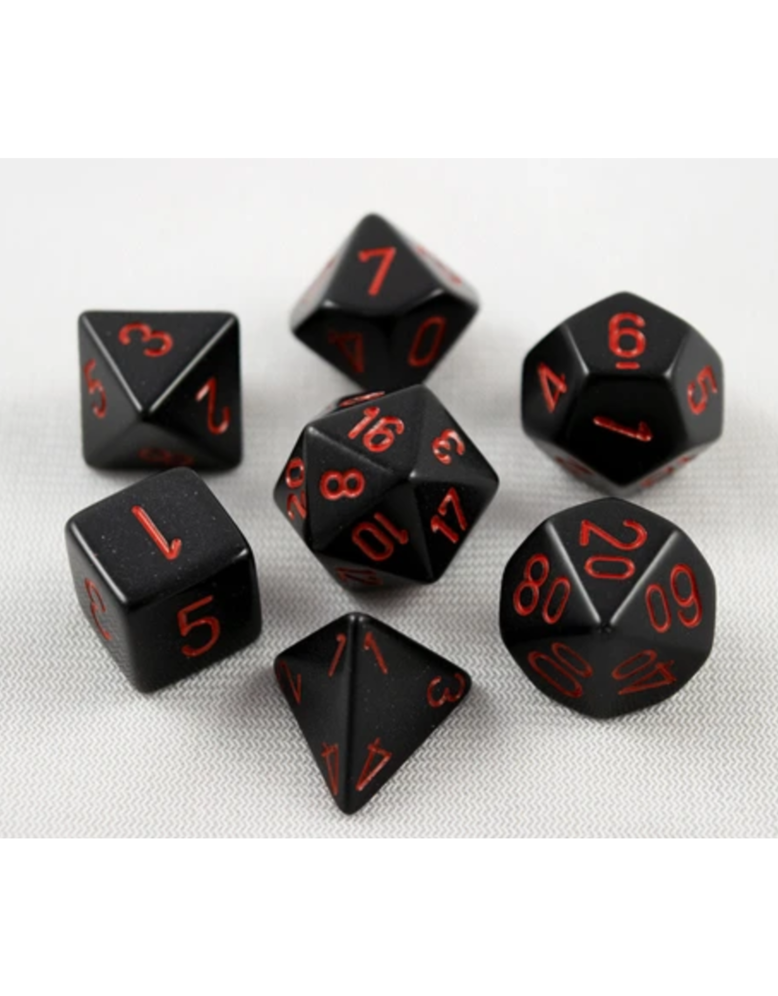Chessex 7-Set Polyhedral Black/Red
