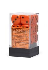 Chessex d6Cube16mmOP ORbk(12)