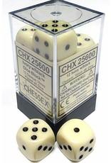 Chessex d6Cube16mmOP IVbk (12)