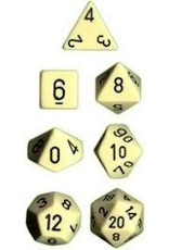 Chessex 7-Set Polyhedral Cube Opaque Ivory/Black