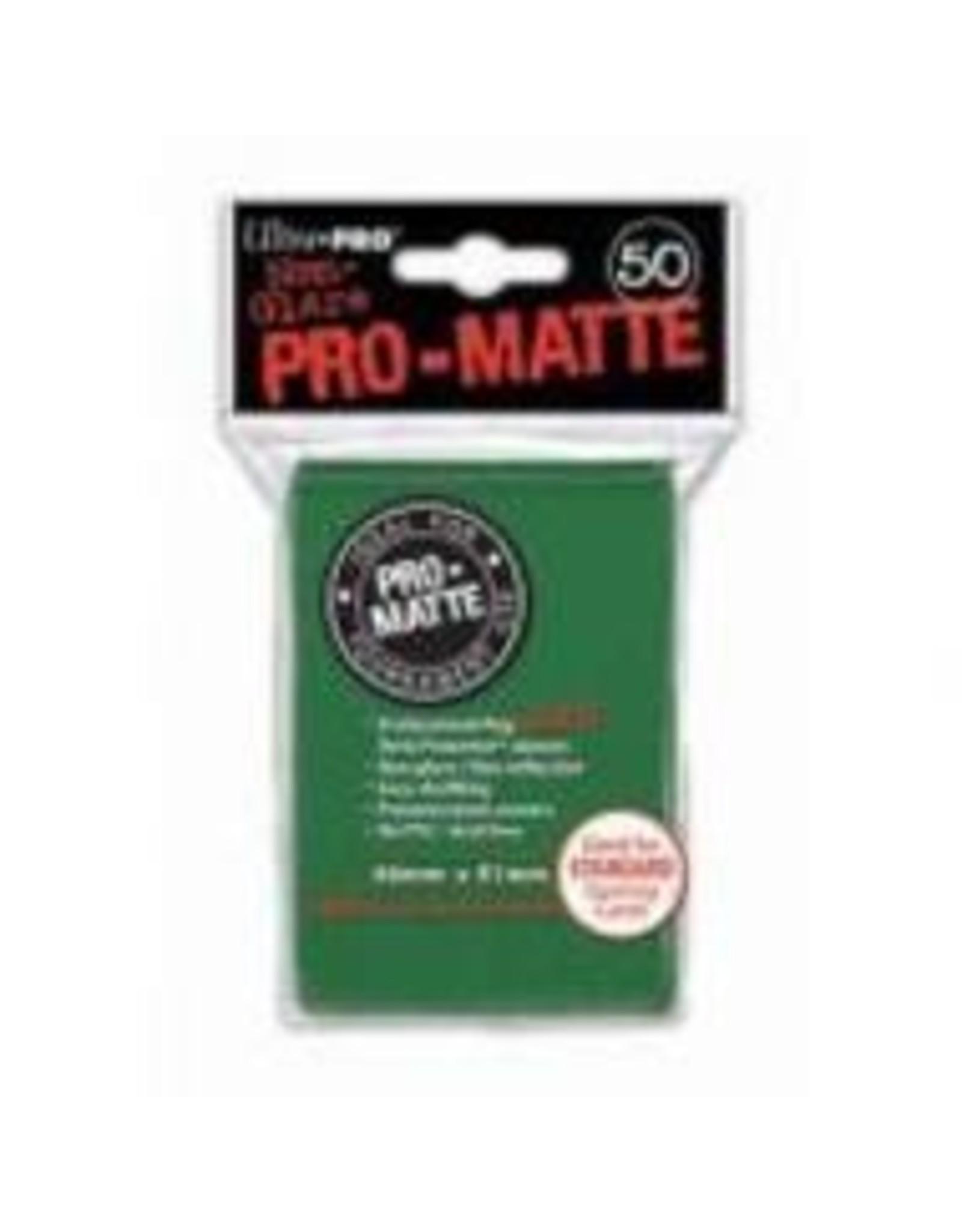 Ultra Pro Deck Protector: PRO-Matte - Green (50std)