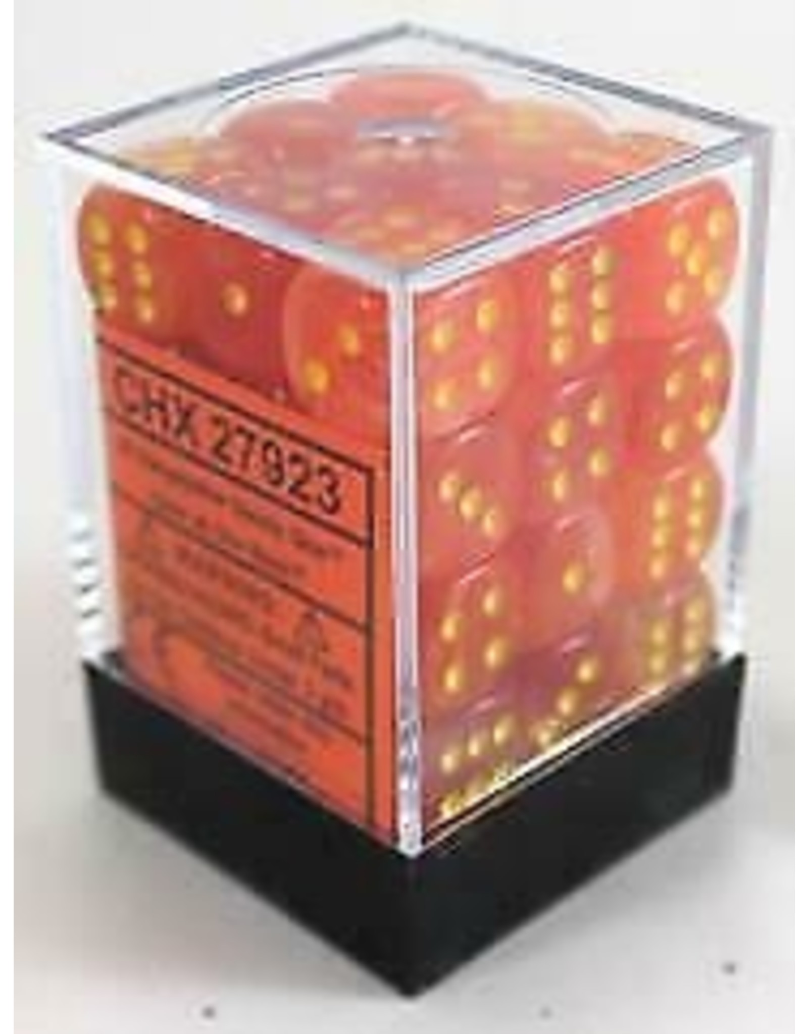 Chessex d6Cube12mm Ghostly Glow ORye (36)