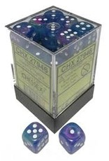 Chessex d6Cube 12mm Festive Waterlily wh