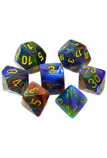 Chessex 7-Set Polyhedral Cube Festive Rio/ye