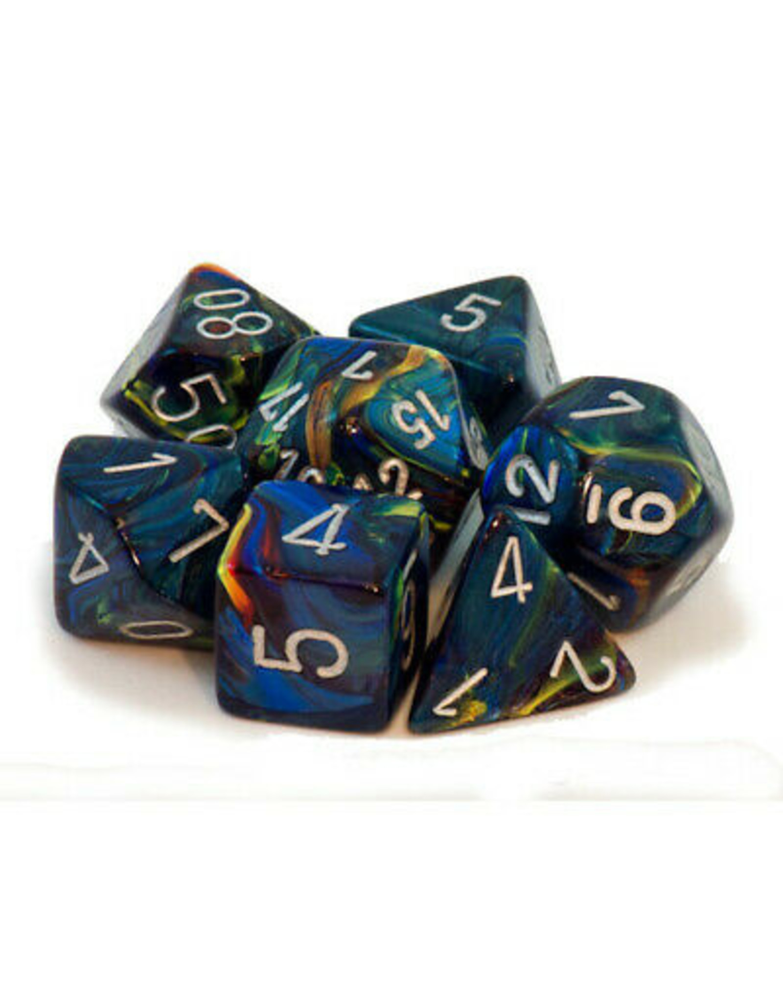 Chessex 7-Set Polyhedral Festive Green/Silver