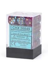 Chessex Gemini 12mm D6 PRP TEAL w/ GLD