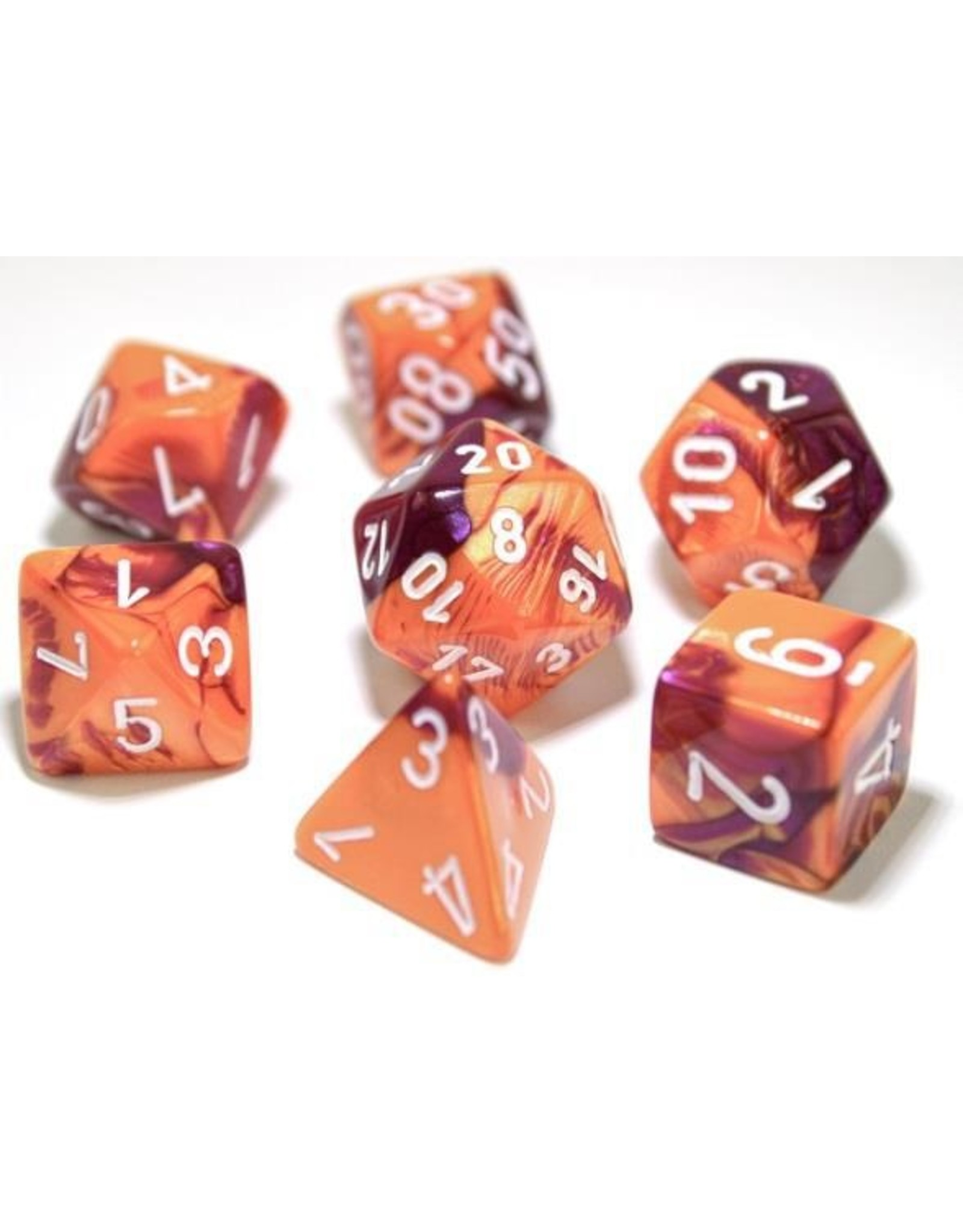 Chessex 7-Set Polyhedral Cube Lab Dice Gemini ORPUwh