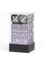 Chessex d6 Cube 16mm Gemini2 Purple/St