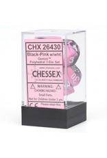 Chessex 7-Set Polyhedral Gemini #2 Black/Pink