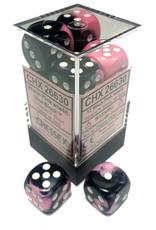 Chessex d6 Cube 16mm Gemini2 Black/Pnk