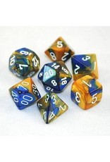 Chessex Gemini Poly Blue Gold/white 7