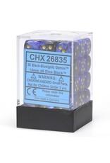 Chessex d6Cube12mmGemini#3 BKBUgd (36)