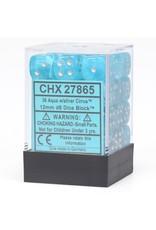 Chessex Dm5 Cirrus 12mm D6 Aqua/silver
