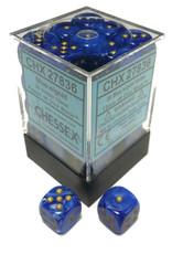Chessex Vortex 12mm D6 Blue/gold Blk
