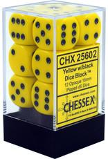Chessex d6Cube16mmOP YEbu (12)