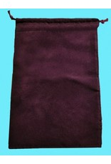 Chessex Suedecloth dice bag, large burgundy