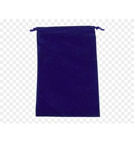 Chessex Suedecloth dice bag, large royal blue