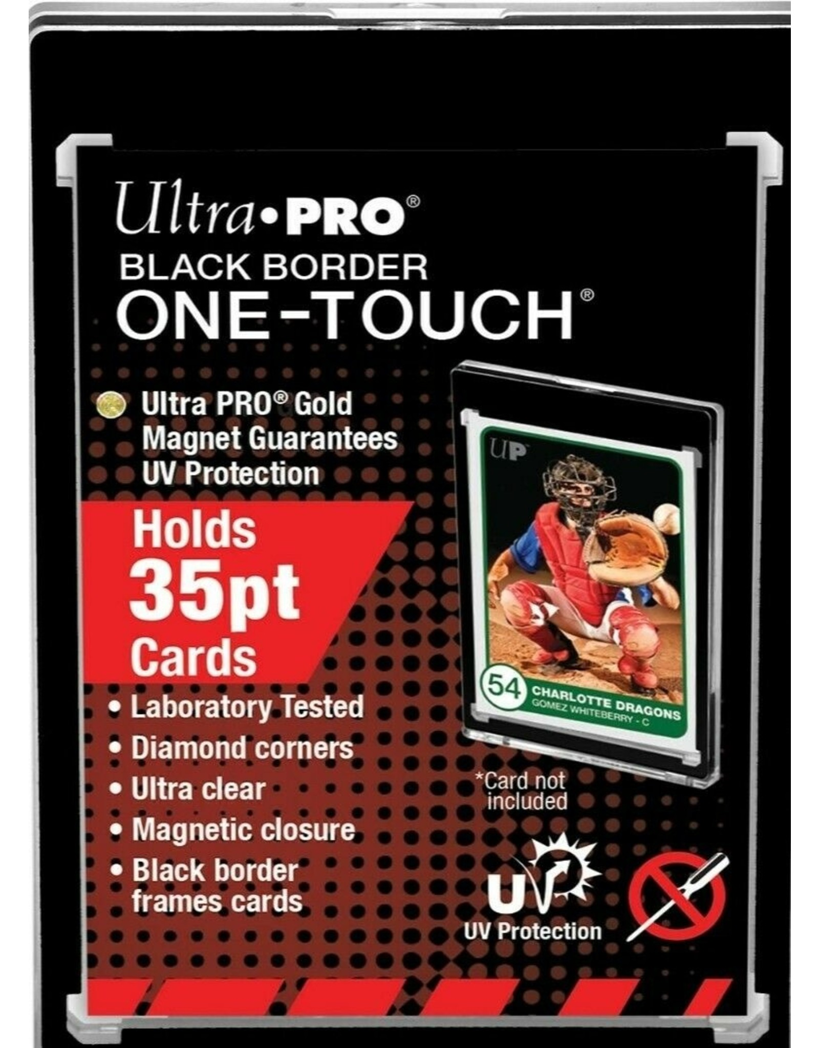 Ultra Pro 35pt Black Border One-Touch