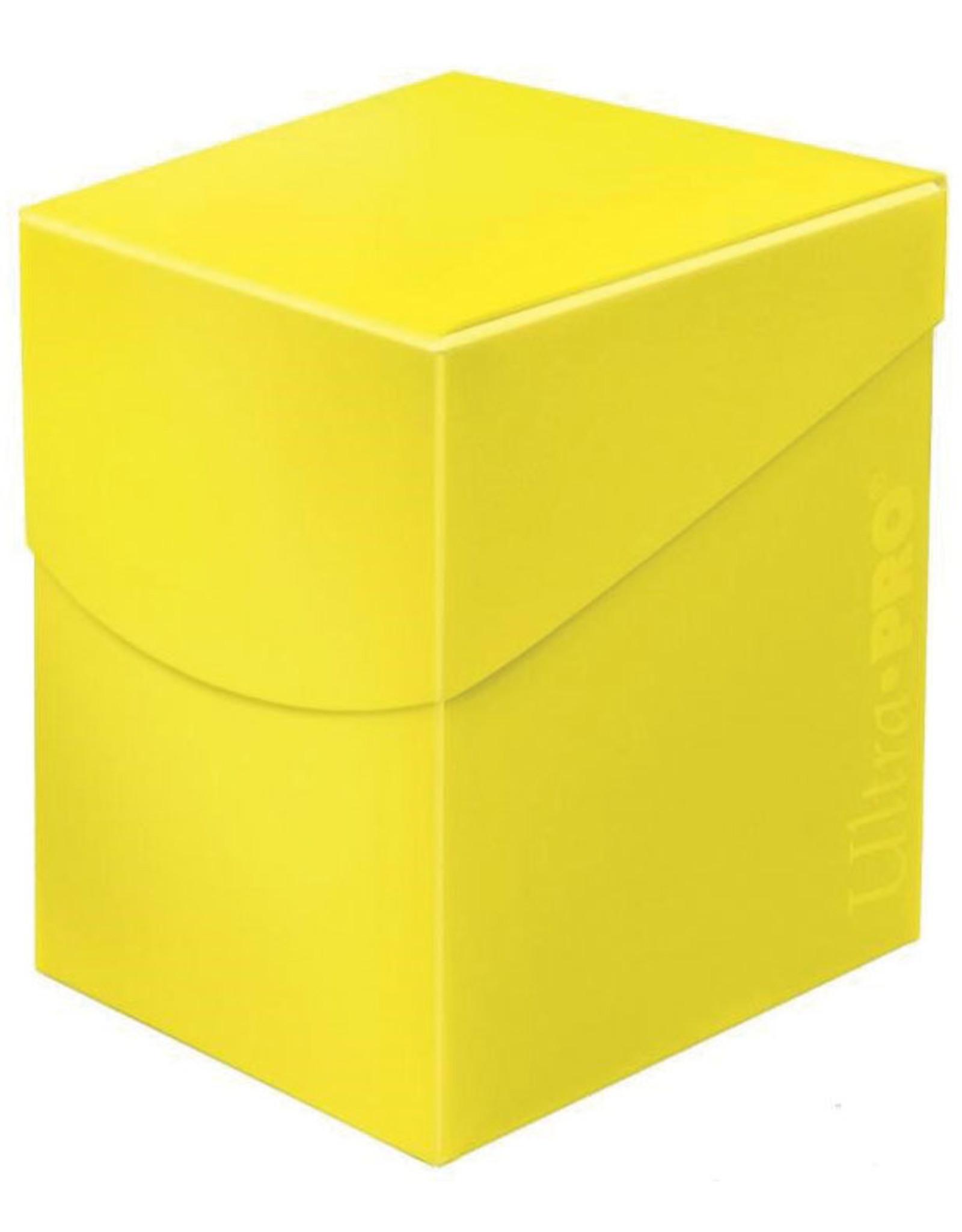 Ultra Pro Deck Box: PRO 100+: Eclipse: Lemon Yellow