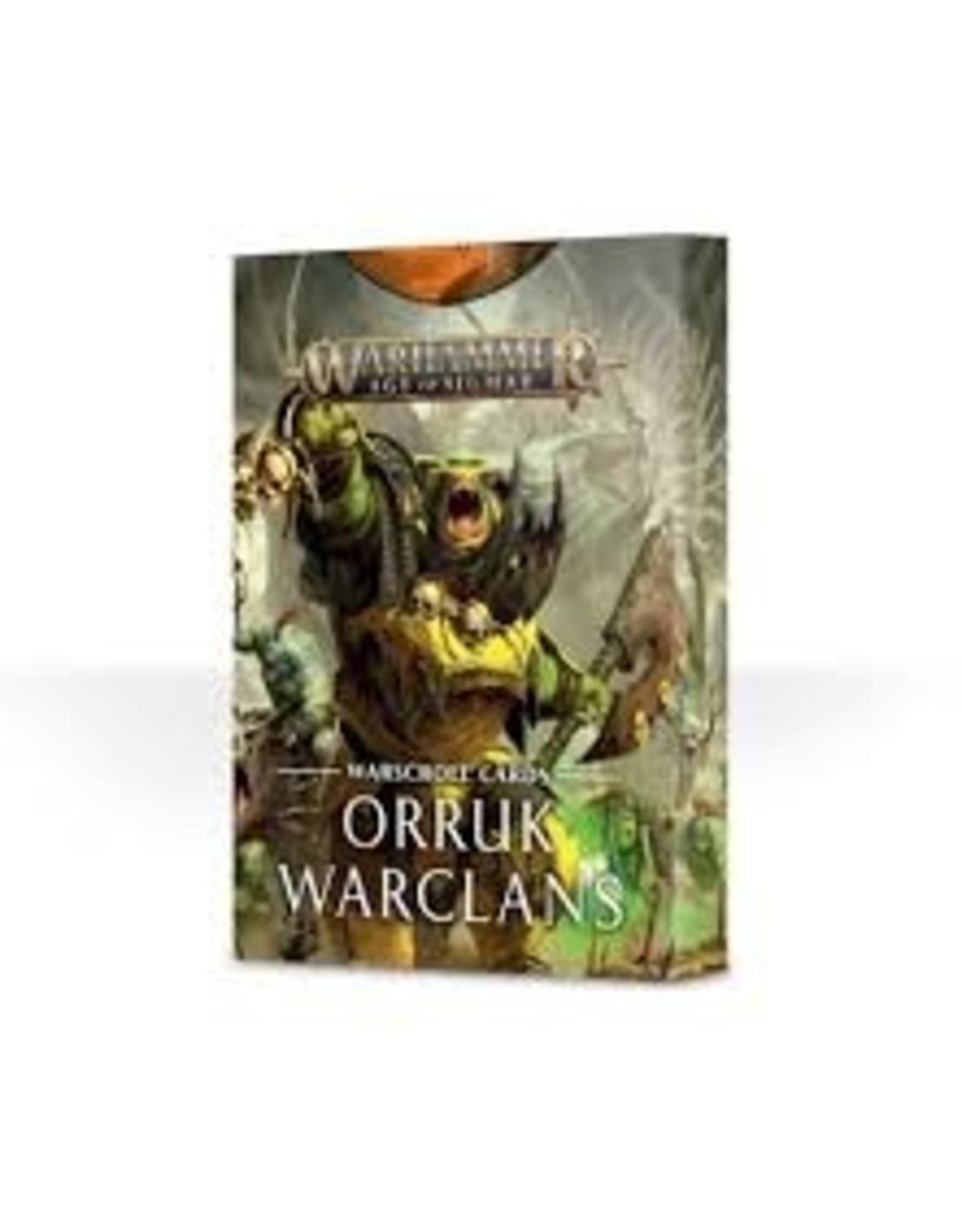 Age of Sigmar Warhammer Age of Sigmar: Orruk Warclans Warscroll Cards