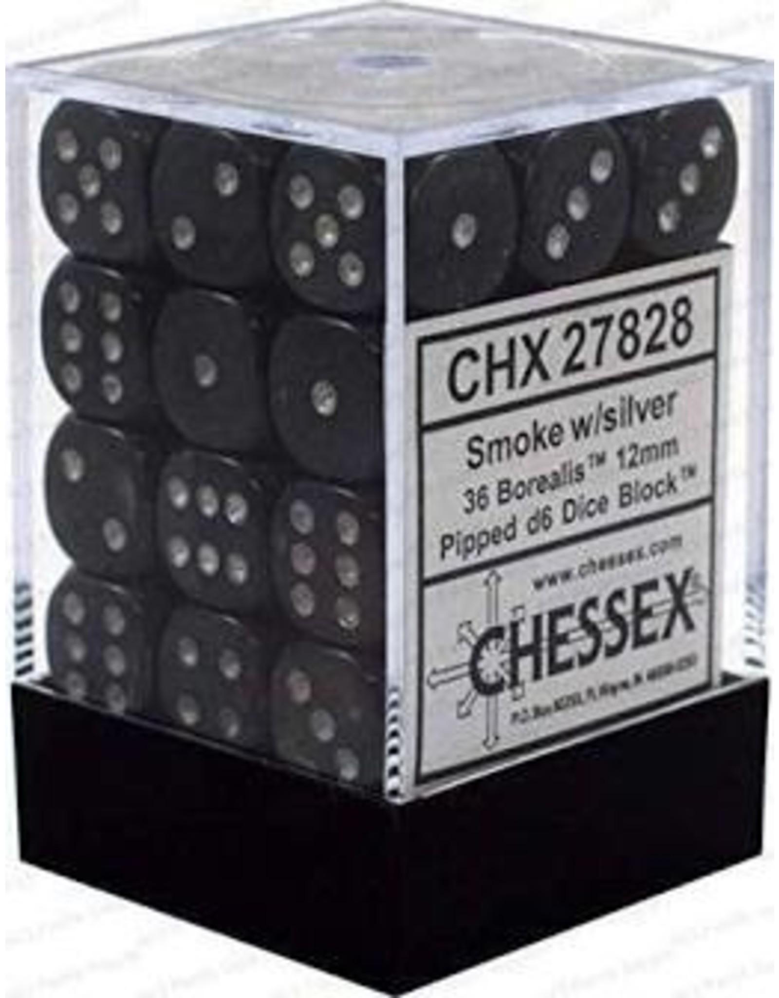 Chessex d6Cube12mmBOR#2 SMsv (36)