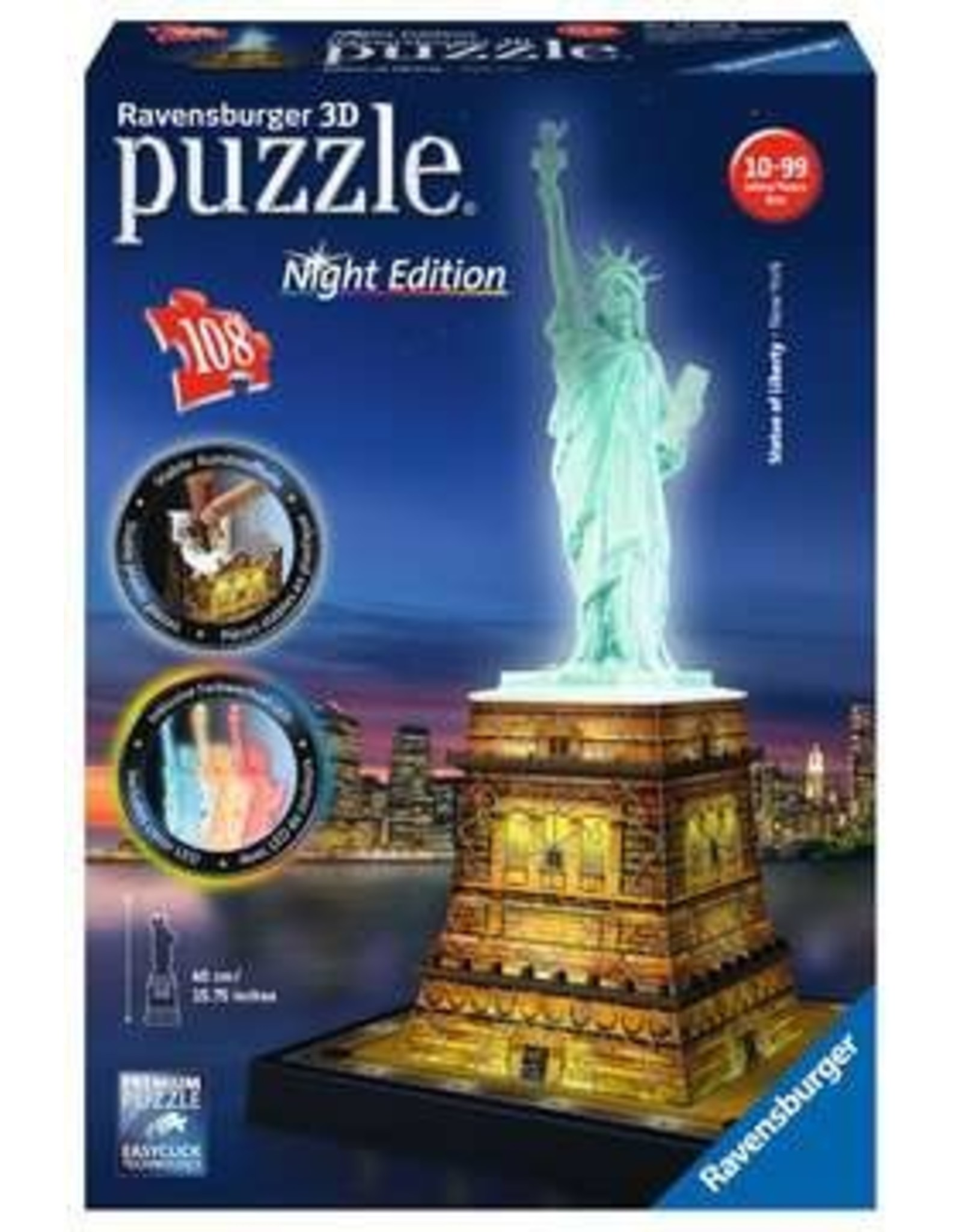 Ravensburger Statue of Liberty - Night Edition - 108pc 3D Puzzle