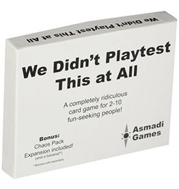 Asmadi We Didnt Playtest This at All