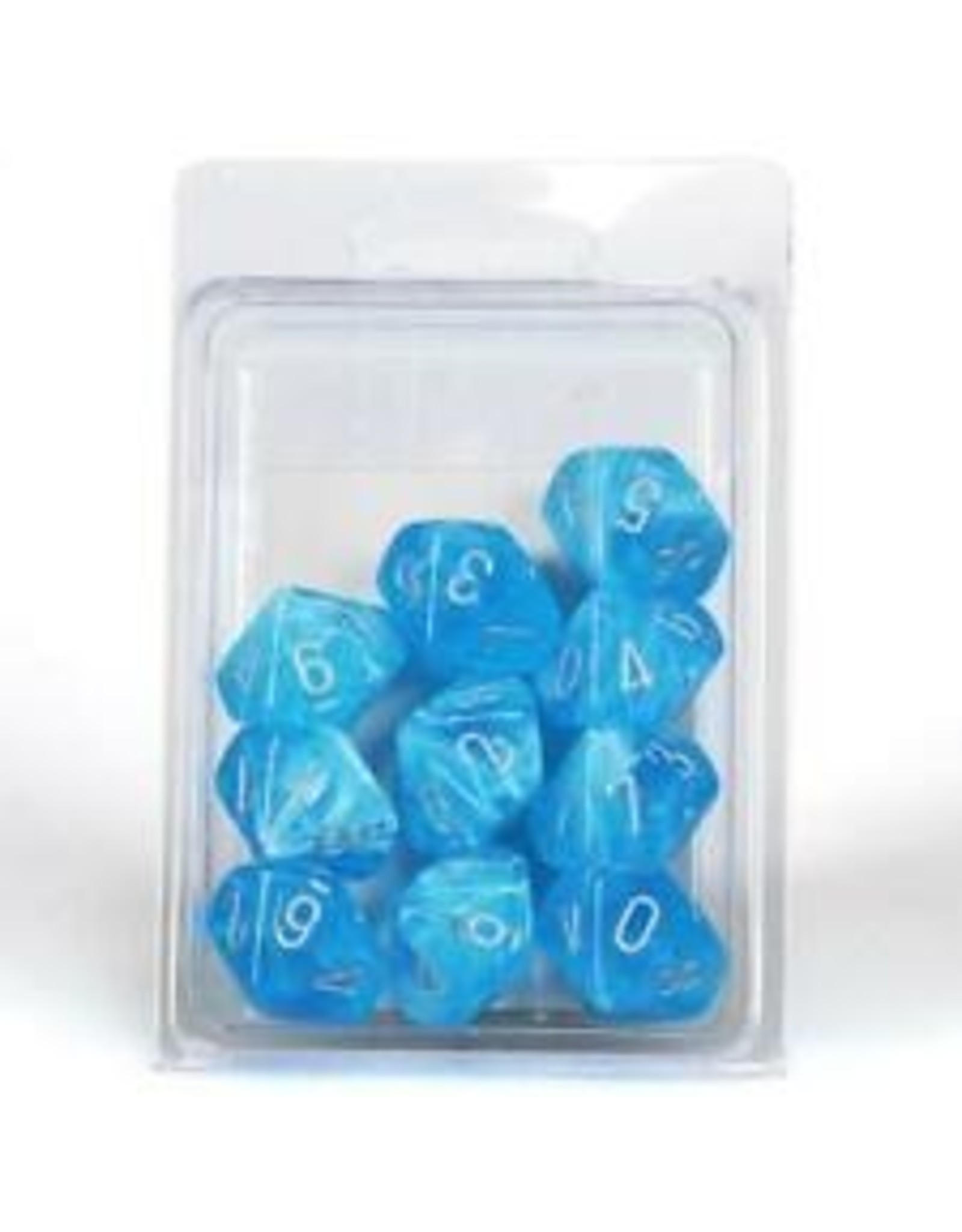 Chessex d10CLamshell GND Luminary SKYsv