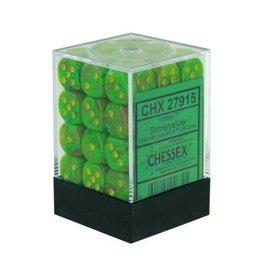 Chessex d6Cube12mm Vortex Slime/ye (36)
