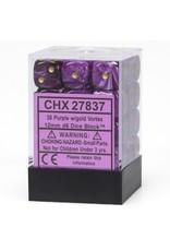 Chessex Purple w/gold Vortex 12mm d6 (36)