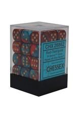 Chessex d6Cube12mmGemini#7 RDTLgd (36)