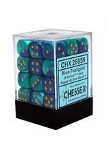Chessex d6Cube12mmGemini#7 BUTLgd (36)