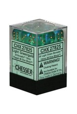Chessex d6Cube12mmBOR#2 LTGRgd (36)