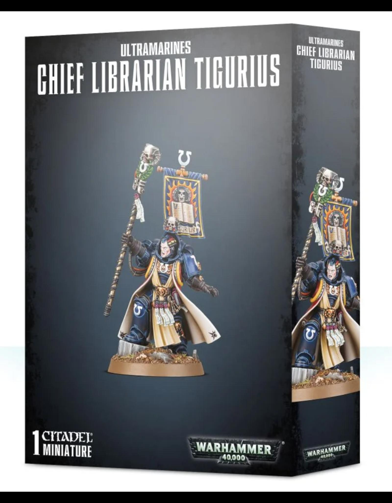 Warhammer 40K Space Marine Ultramarines Chief Librarian Tigurius