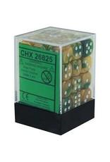 Chessex d6Cube12mmGemini GDGNwh (36)