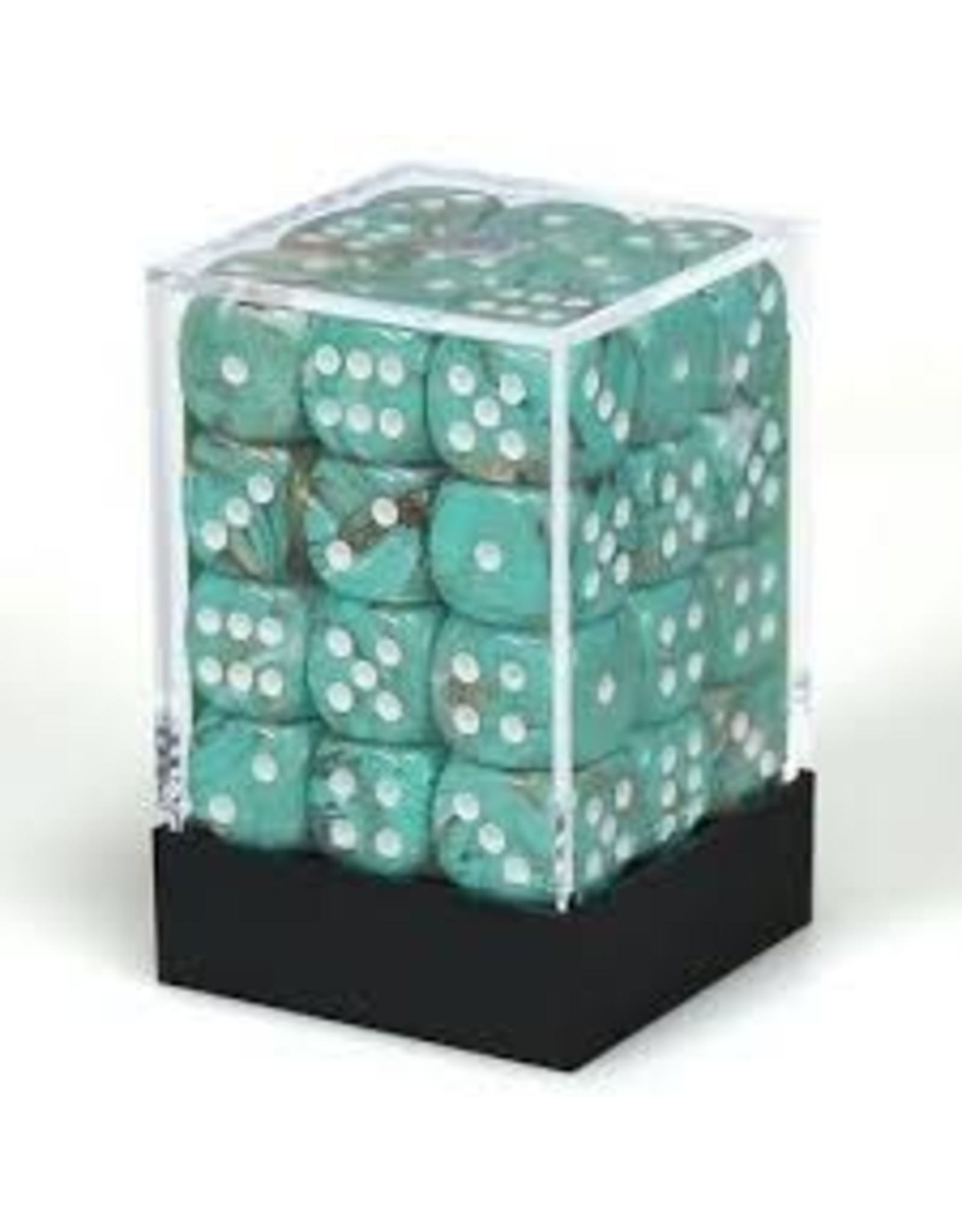 Chessex d6Cube 12mm Marble Oxi-CP wh