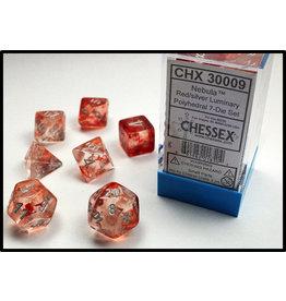Chessex 7-Set Polyhedral Cube Lab Dice NB Luminary GND RDsv