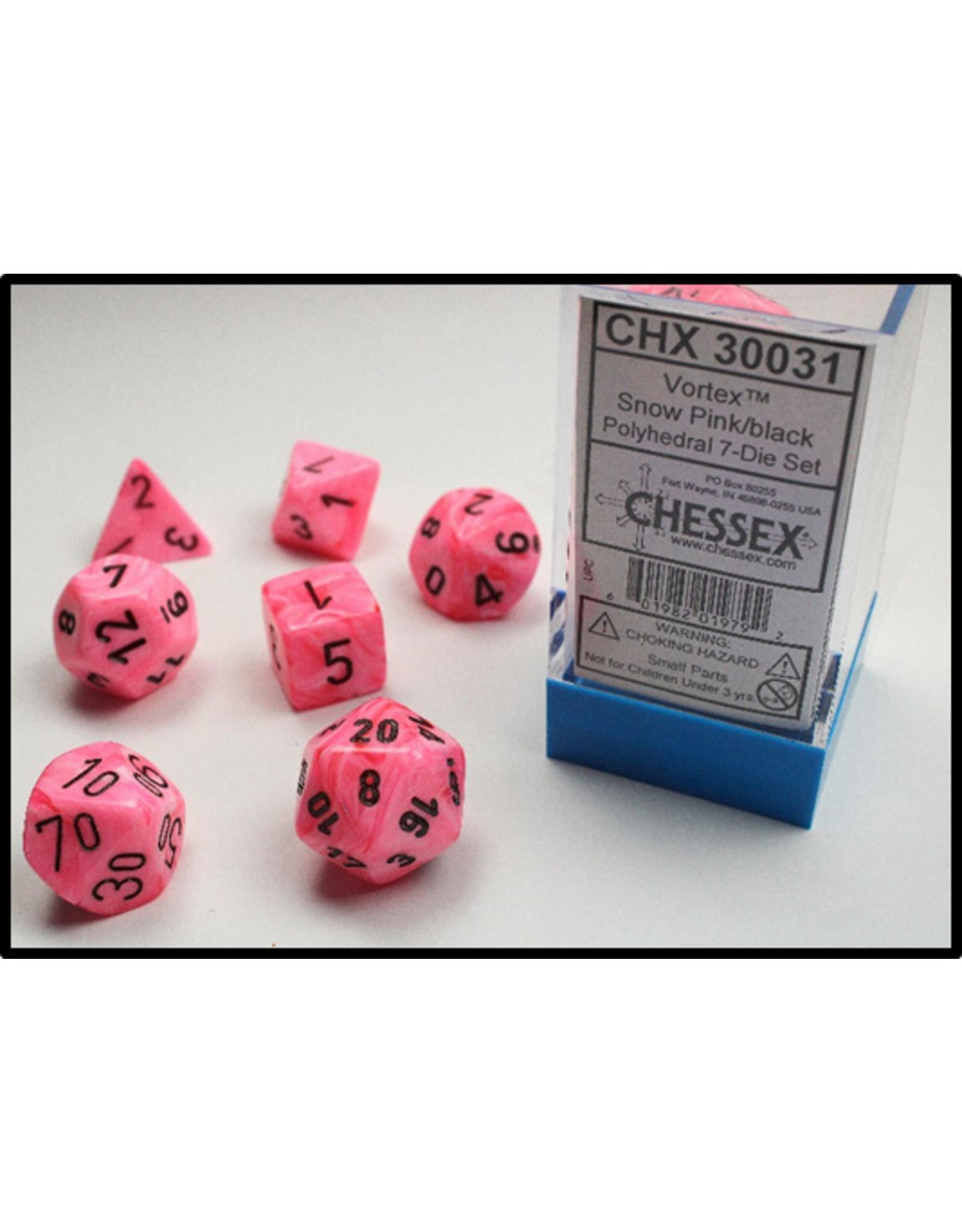 Chessex 7-setCube Lab Dice VTX Snow PKbk