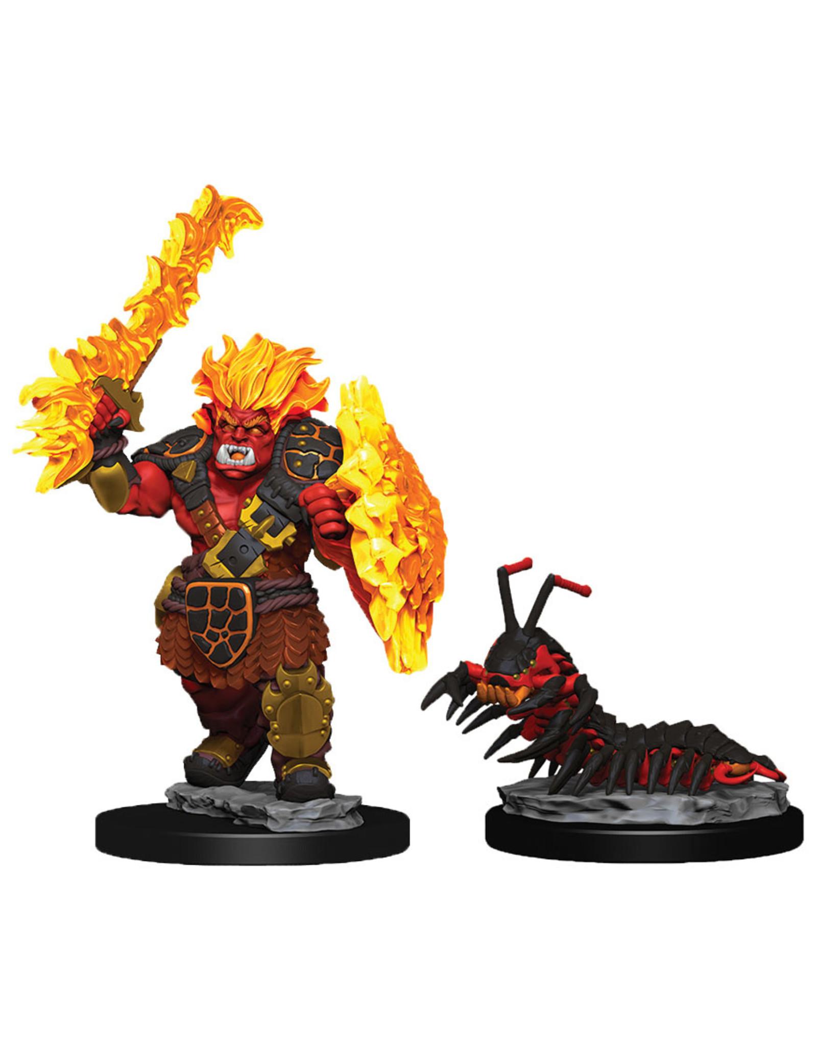Wiz Kids WizKids Wardlings: W4 Fire Orc & Fire Centipede