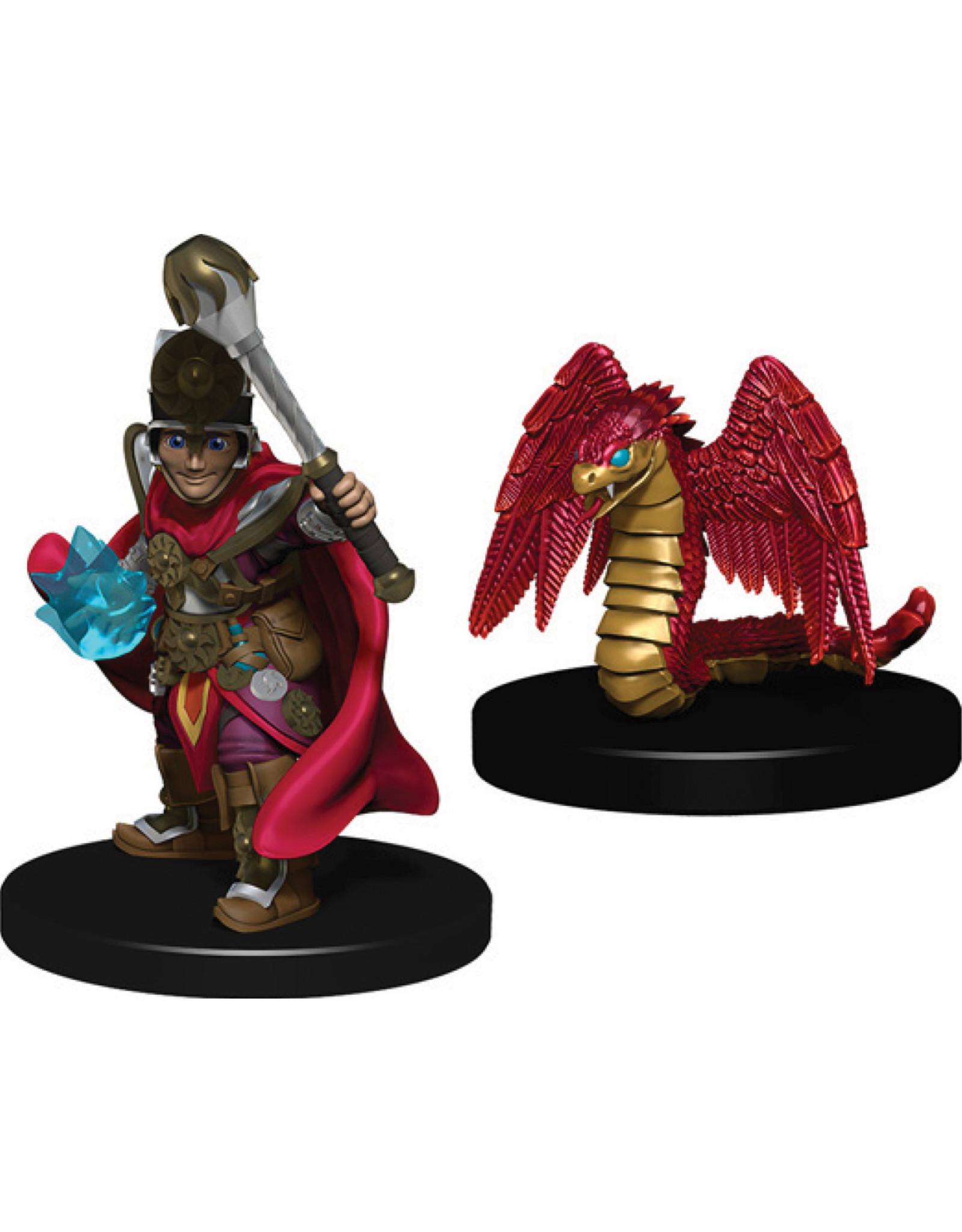 Wiz Kids Wardlings: Boy Cleric & Winged Snake